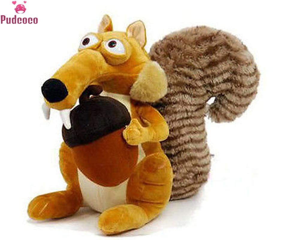 Pudcoco Cute Cartoon Ice Age 3 SCRAT Squirrel Stuffed Plush Toy Baby Infant Animal Plush Toy Squirrel Stuffed Play Toy 7 Dfe