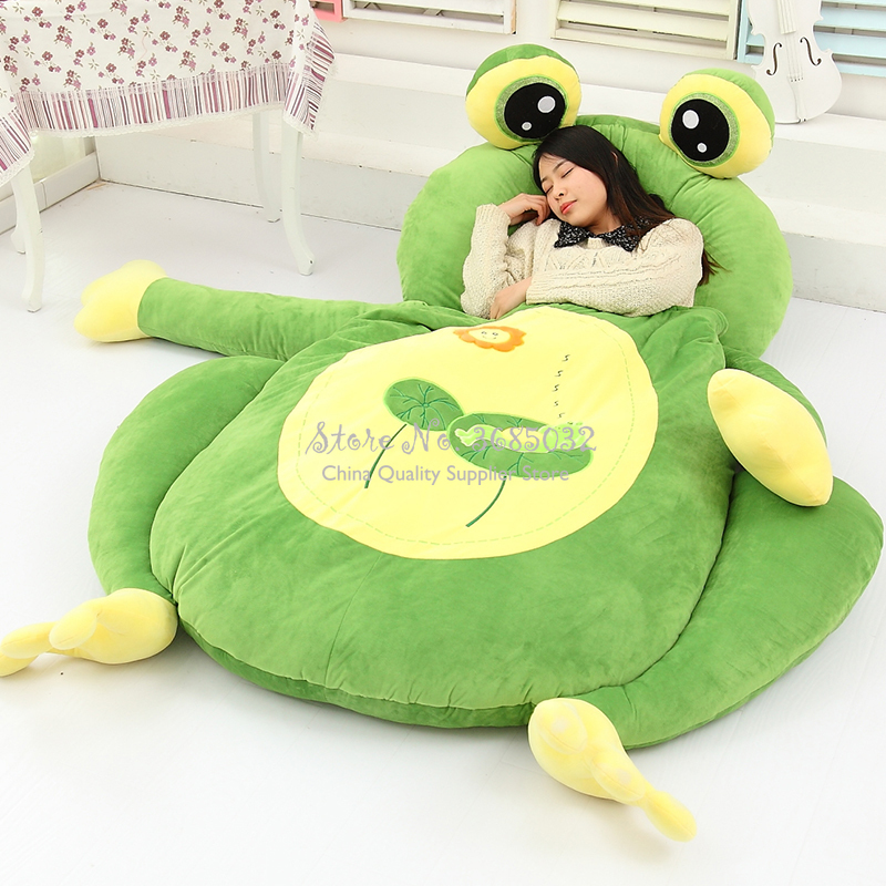 Мультяшный милый медвежонок, детская кровать, ленивый диван, кукла татами, кровать, сиденье, спящий коврик, Съемный и моющийся