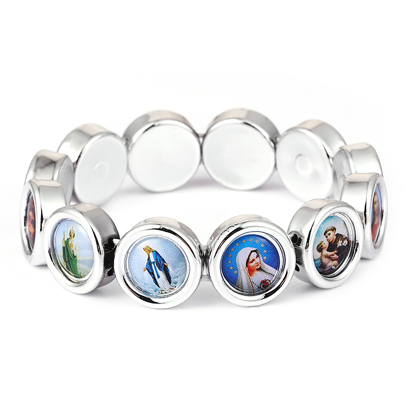 2021 новый дизайн 16 мм значок браслет Иисус святые Мария Ангел католический модные религиозные украшения