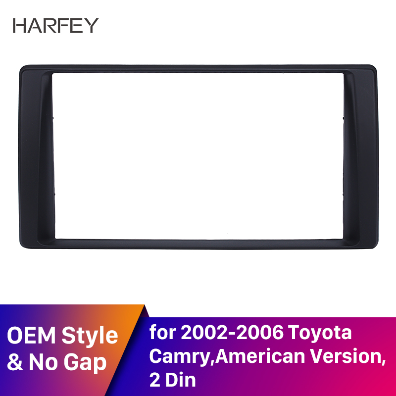 Harfey Black 2 Din Car Radio Fascia Frame In dash Panel Bezel for Toyota Camry (American Version) 2002 2003 2004 2005 2006 Auto image