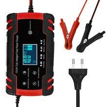 Carregador de bateria de carro totalmente automático 12v 8a 24v 4a inteligente carregamento rápido para agm gel molhado chumbo ácido carregador de bateria display lcd