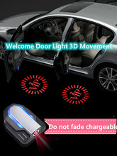 2X move Wireless Led Car Door Welcome Laser Projector Logo Ghost Shadow Light for Audi Ford BMW Toyota Hyundai  Mazda Cadillac 2x rear under mirror door welcome led ghost shadow projector light for ford kuga focus led logo light car styling lighting