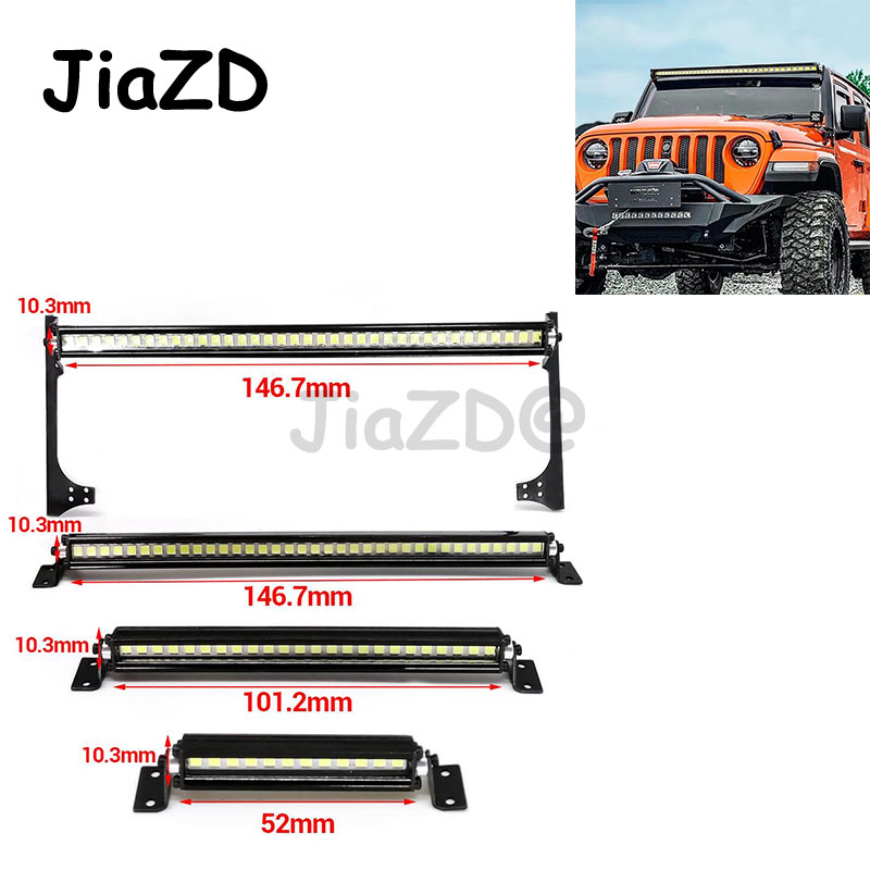 New RC Car Roof Lamp 24 36 LED Light Bar for 1/10 RC Crawler Axial SCX10 90046 90060 SCX24 Jeep Wrangler JK Rubicon Body F05(China)