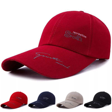 Caps Baseball Running Women Outdoor Cotton Solid Letter Canvas Casual-Hat Printing Adjustable