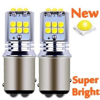 2 sztuk nowy 1157 P21/5W BAY15D Super Bright 1800 lm LED Auto tylny hamulec żarówka Turn Signal światła do jazdy dziennej samochodu tylne światła przeciwmgielne lampy