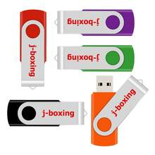J-boxing Metal 128GB USB Flash giratorio 128 gb memoria USB Almacenamiento de alta capacidad para ordenador Mac tabletas multicolores(China)