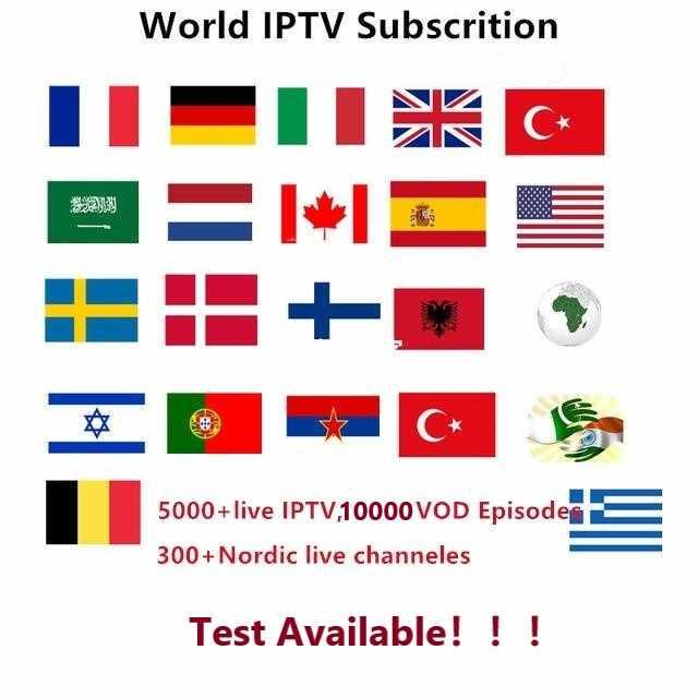 Abonnement IPTV espagne italia allemagne Portugal IPTV Abonnement chaînes en direct France Espana pour tv box android 9 Smart tv