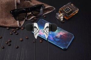 Image 5 - In ear fone de ouvido para o telefone estéreo baixo headset crânio cabeças 3.5mm porta metal com fio fone de ouvido para huawei samsung xiaomi smartphone