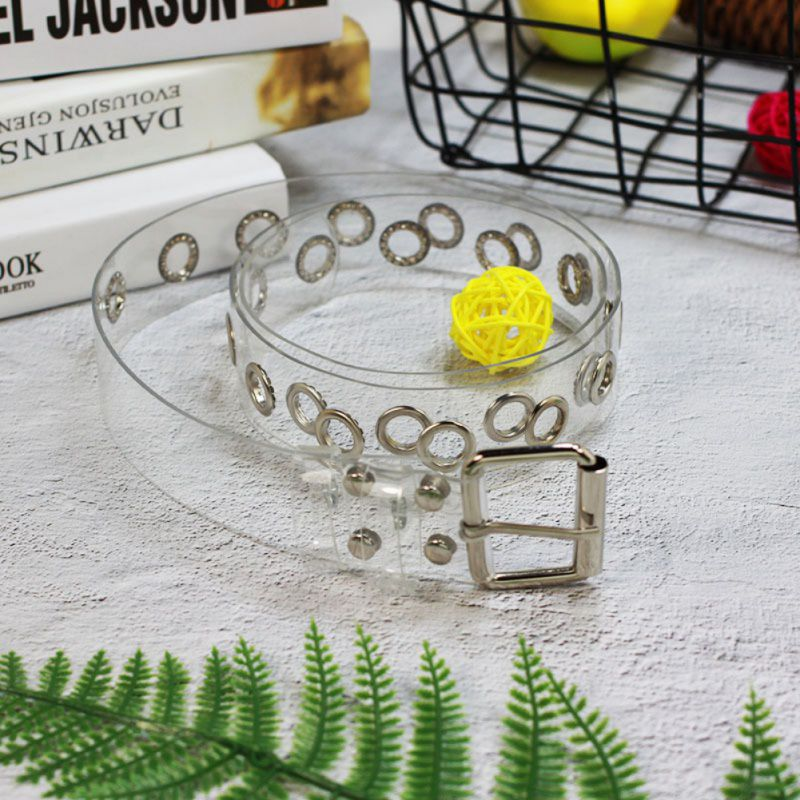 New Belts For Women Resin Casual Transparent Jeans Belt Harajuku Pvc Women Strap White Clear Belts Fashion