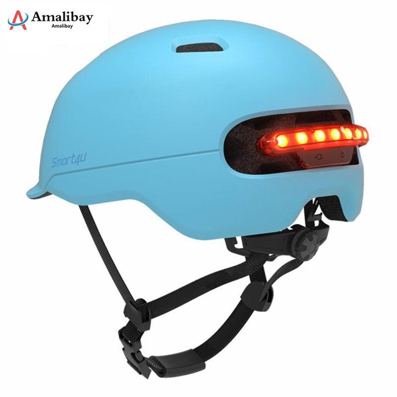 Image 5 - Электрический скутер защитный шлем с Предупреждение светильник для Xiaomi M365 профессиональный самокат электрический скейтборд Ninebot Es1 E2 Mijia M365 скутер Запчасти-in Детали и аксессуары для скутера from Спорт и развлечения