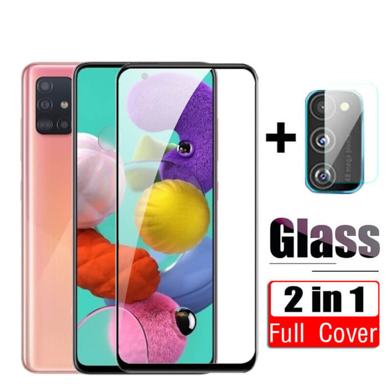 2Pcs Tempered Glass For Samsung Galaxy A51 A50 A70 A71 Protective Film Cover On Samsun A 51 A 50 A51 Camera Lens Glass Protector