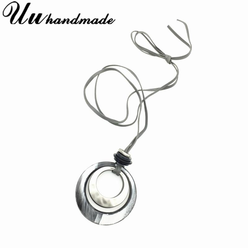 Купить модное длинное быстрое акриловое ожерелье с подвеской женские