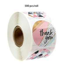 500pcs stickers bullet journal thank you seal labels for envelope, wedding, birthday party decoration sticker