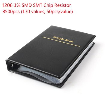 1 set 1206 smd resistor sample book 170values 50 pcs 8500 1% 0ohm  chip kit assortment