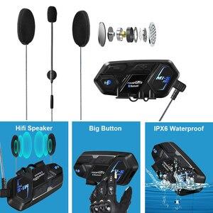 Image 5 - Fodsports M1 S Proหมวกกันน็อกIntercomหมวกกันน็อกรถจักรยานยนต์ชุดหูฟังบลูทูธ8 Riders 2000M Group Intercom BT Interphone