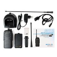 vhf uhf צריכת החשמל הגבוה 10W המקצועי מכשיר קשר Retevis RT1 VHF (או UHF) VOX 3000mAh שתי האנטנה שני דרך רדיו המשדר Comunicador (2)