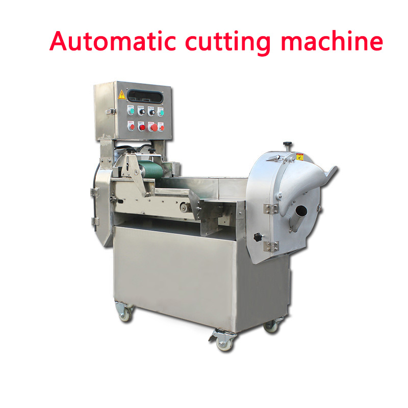 300-1000kg/h Commercial VVVF Automatic Vegetables Cutter Multifunction Cutting Machine Electric Vegetable Slicer 220v/380v 1.3KW