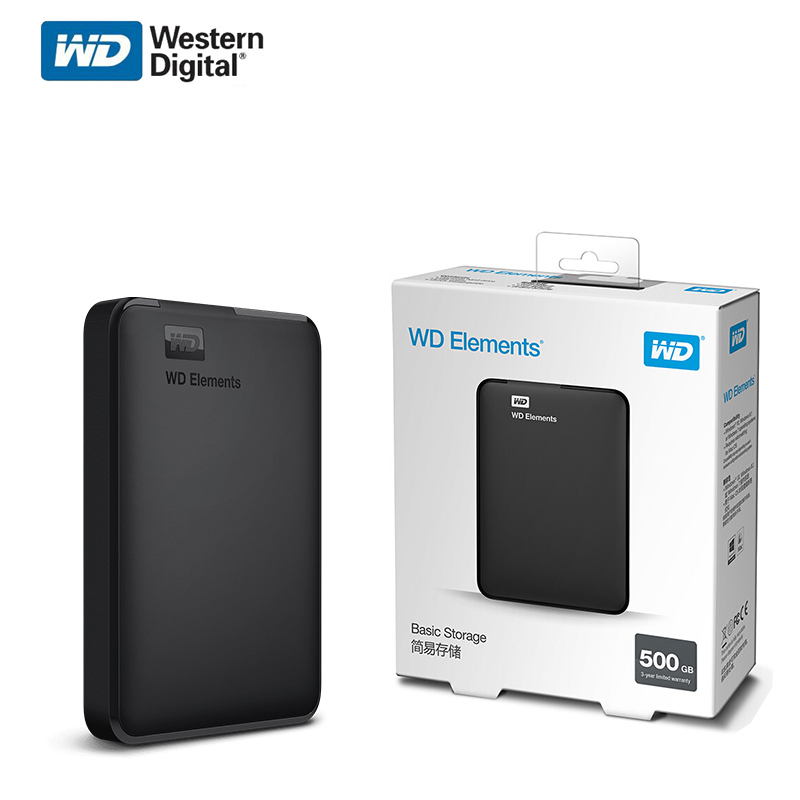 Портативный внешний жесткий диск Western Digital WD Elements 2,5 дюйма, USB, 1 ТБ, 4 ТБ, 5 ТБ