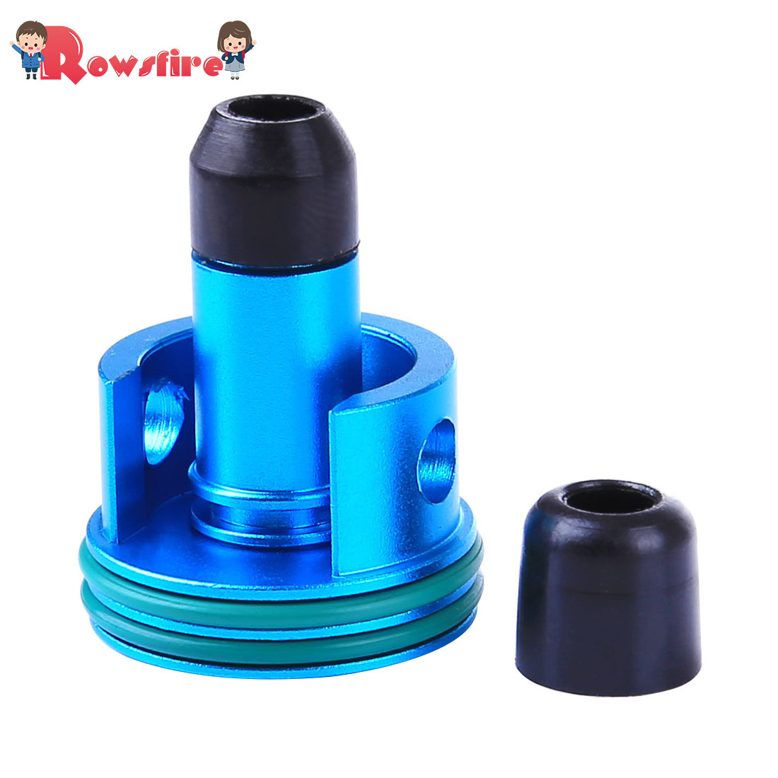 Metal Air Cylinder Head and Inner O Ring Air Seal Nozzle for Jingji SLR/RX <font><b>AK47</b></font> Water Gel Beads Blaster - Blue image