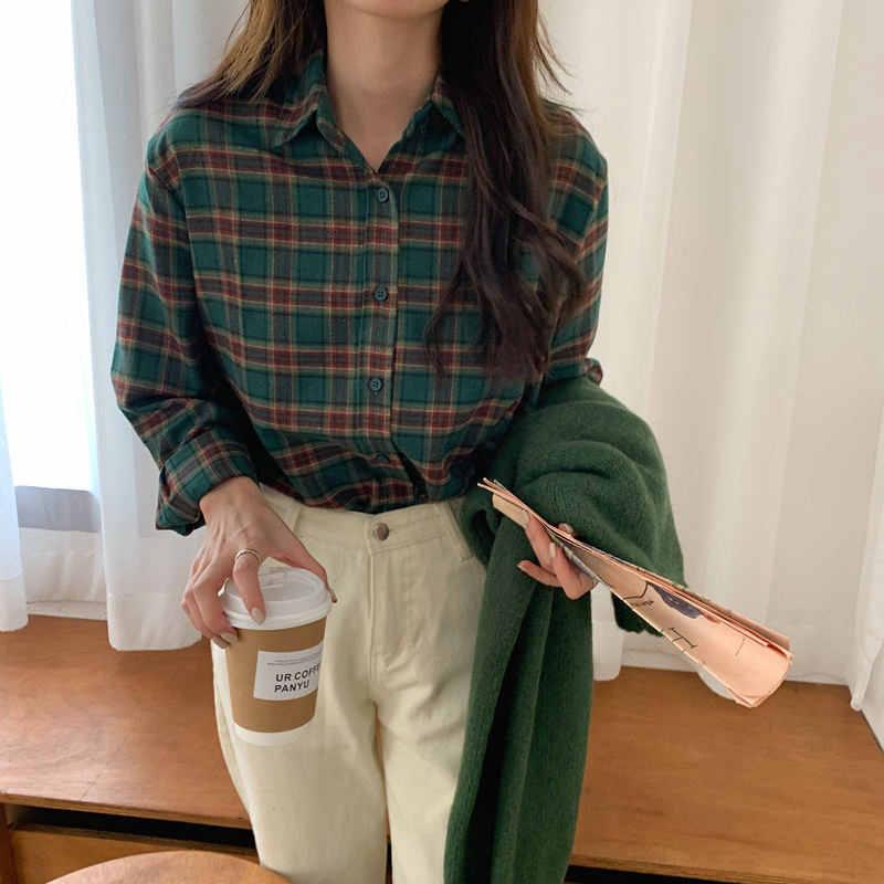 HziriP באיכות גבוהה פיצול מוצק רטרו Loose משרד ליידי אופנתי עדין 2020 כל התאמה בציר מזדמן קצר מכירה לוהטת נשים חולצות