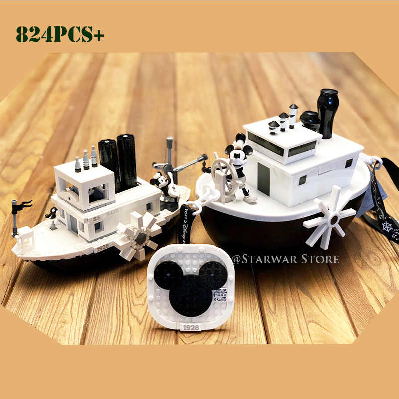 2019 Mickey Steamboat Willie Set 21317 Building Blocks Bricks toys for children Gifts Kid Christmas