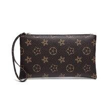 3 Pieces Leather Wallet Women Bag Luxury Brand Mini Phone Purses Female Flower Brown Coin Zipper Bag Wholesale Purse Card Holder