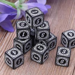 10 штук, многосторонние Акриловые Кубики D6 для настольной доски, ролевых игр