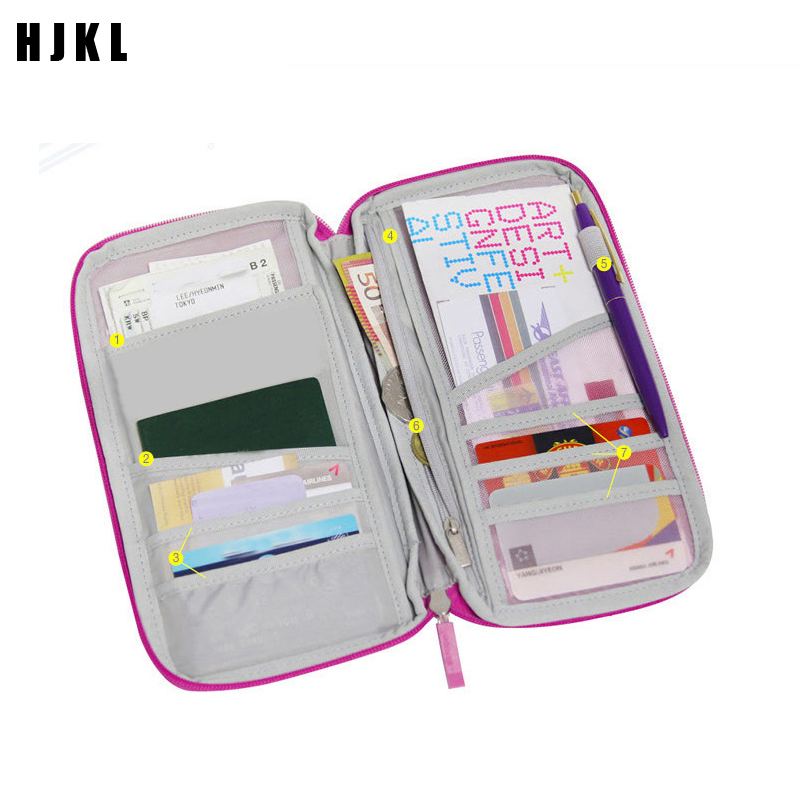 Travel Accessories Storage Bags Wallet With Passport Cover Credit ID Cards Tickets Holder Multicolor Purse Bag WalletsTicket And