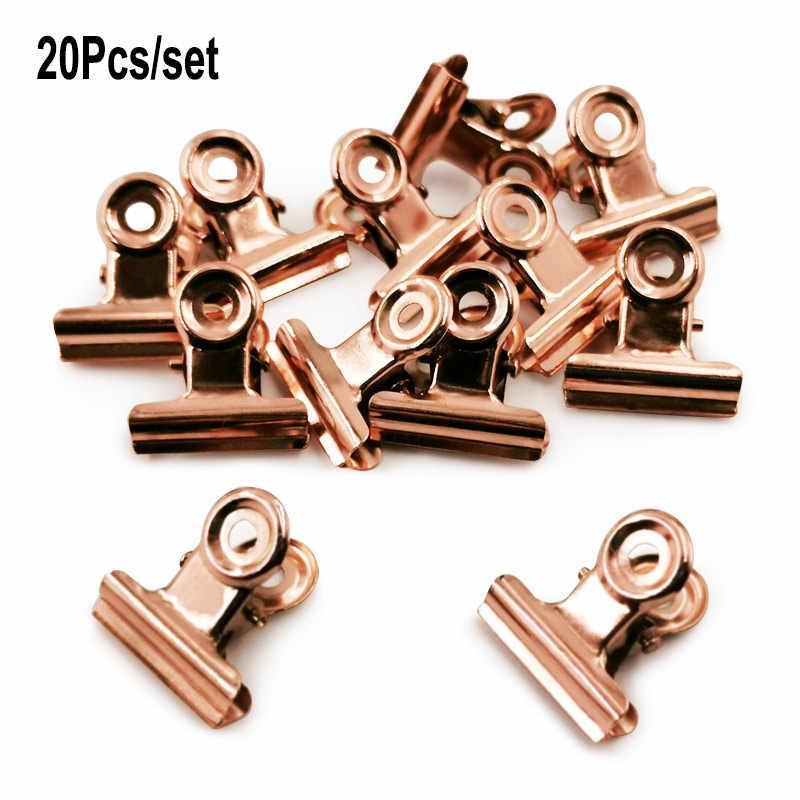 20 Stücke 25mm Metall Papierklemme Bulldog Clips Zettelclip Vielzweck