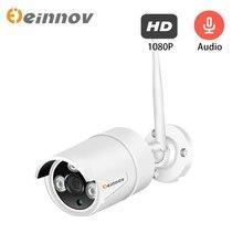 Einnov 1080 p câmera ip 2mp câmera de vigilância vídeo wi fi em casa sem fio segurança para casa conjunto áudio ao ar livre hd onvif camhi