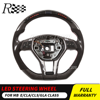 LED Steering Wheel compatible for Mercedes Benz X156 X204 C117,X117 W218  R231 GLA AMG LED display carbon steering wheel