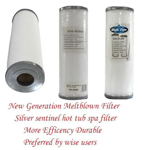 US Spa Filter Silver Sentinel Hot Tub Spa Filter 335mm X 125mm + Top Quality + Fit Same Size Pleated Filter
