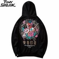 Men Hip Hop Hoodie Sweatshirt Good And Evil Print 2019 Streetwear Hoodie Harajuku Kanji Pullover Sweat Shirt Black Autumn Cotton