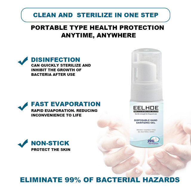Portable Quick-Drying Advanced Hand Sanitizer Soothing Gel