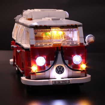 Led Light Set Compatible For Lego 10220 21001 Creator Volkswagen T1 Camper Van Building Blocks Bricks Toy(LED light Battery box)