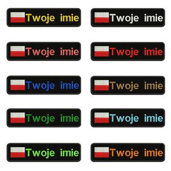 Polska flaga polska 10 #215 2 5cm haft nazwa własna tekst łatka paski odznaka żelazko na lub rzepy łatki na ubrania tanie i dobre opinie zuajee 10cm*2 5cm Ekologiczne Haftowane Plastry Iron-on BR-F293-01