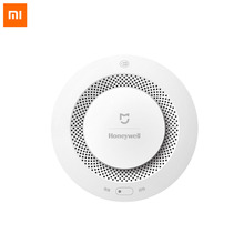 Xiaomi Mijia Honeywell Smoke Detector Fire Alarm Detector Remote Control Audible Visual Alarm Notification Work with Mi Home APP