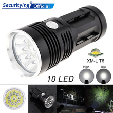 Waterproof Lights Flashlight Super Bright 3000LM 10 x XML-T6 LED Flash Light Torch Lamp with 3 Modes for  Hunting / Fishing led flashlight 13x xml t6 led waterproof super bright backpacking hunting fishing torch flash lamp