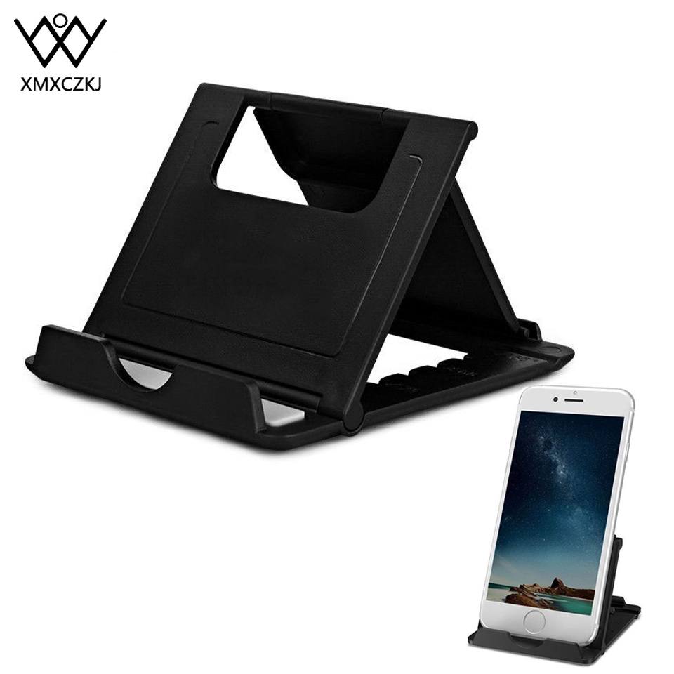 XMXCZKJ Cell Phone Holder Stand For IPhone11 XS Max Xiaomi Mi 9 Samsung S10 Plus Adjustable Universal Mobile Tablet Desk Bracket
