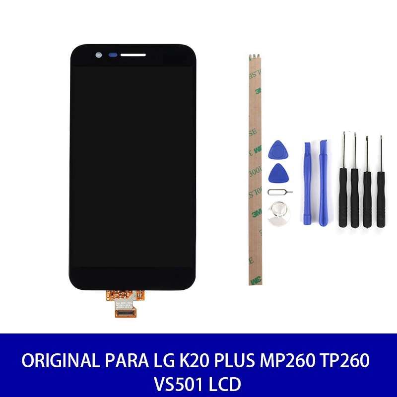 Original For <font><b>LG</b></font> <font><b>K20</b></font> <font><b>plus</b></font> MP260 TP260 VS501 LCD Display Touch <font><b>Replacement</b></font> Parts Tools With Frame 100% Test High Quality image