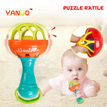 Yanuo brinquedos do bebê macaron chocalho macio brinquedo do bebê mordedor brinquedo educação precoce quebra-cabeça do bebê menino brinquedos da criança brinquedos interativos