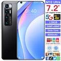 M10 ультра 7,2 Inch 8 ядро 128/256GB полная Экран смарт-телефон с двумя слотами SIMFinger ID Face ID мобильный телефон 6000 мАч Octa core сотовый телефон