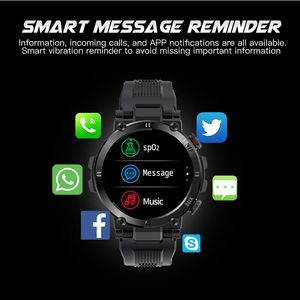 Image 4 - SENBONO 2020 Men Full Touch Screen Smart Watch IP68 Waterproof support HR/BP Fitness Tracker D13 smartwatch for IOS Android