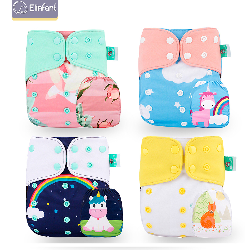 Elinfant  Position Cloth Diaper OS Coffee Mesh Pocket Baby Washable &reusable Cloth Nappy 3-15kg Baby Diapers Freeshipping