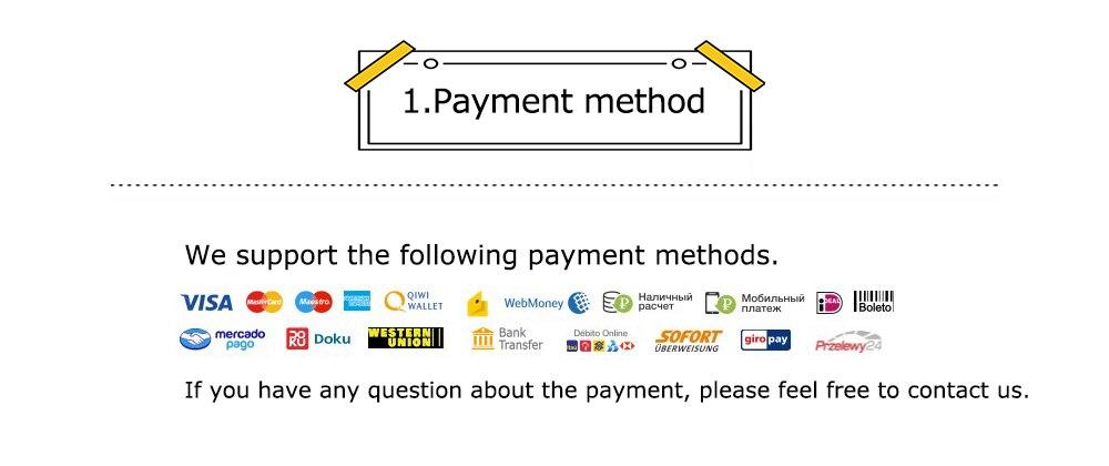 1.支持付款的方式