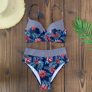 Sexy Ruffle Bikini 2020 Bandage Push Up Swimsuit String Swimwear Women Bathing Suit Brazilian Biquini Thong Female Print Bikinis 3