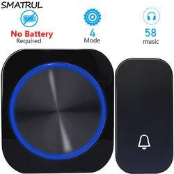 Smatrul автономным питанием Водонепроницаемый Беспроводной дверной звонок ночного света без батареи ЕС Plug Главная беспроводной дверной звоно...
