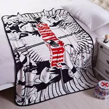 1PCS Fairy Tail Anime Blanket Plush Coral Velvet Warm Decoration Soft Bed Home Throw Sofa Blankets Kid Adult Gifts NEW(China)
