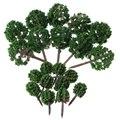 20 шт шарообразные модели цветов деревья смешанные модели деревьев Пейзаж Деревья Поезд Макет сад пейзаж Миниатюрный