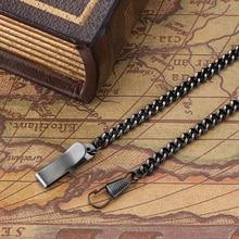 Карманные часы аксессуары браслет часы Инструменты серебро черный Бронзовый золото нержавеющая сталь цепь для Механические карманные часы и подарок